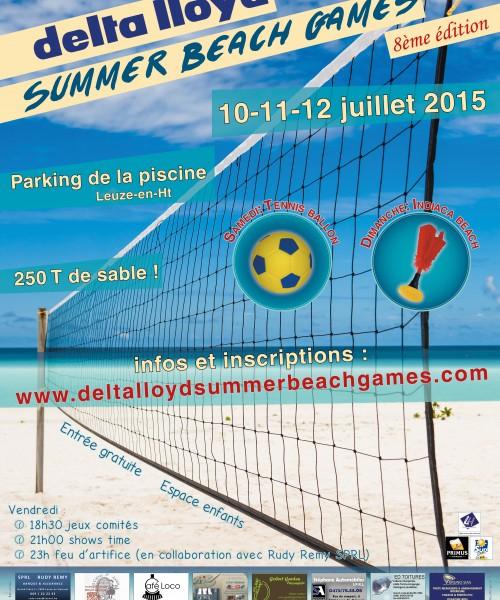 Affiche du Delta Lloyd Summer Beach Games 2015