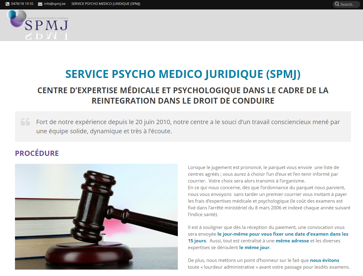 SPMJ Tournai: site web