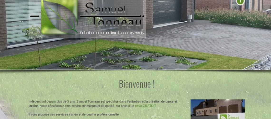 Samuel Tonneau: Création site web
