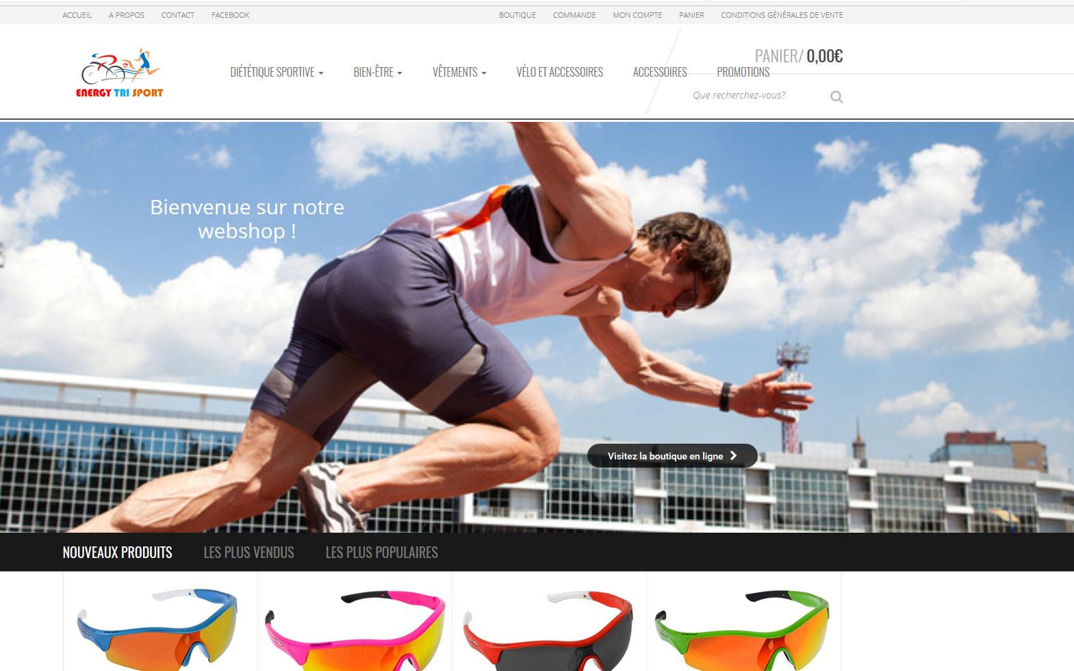 Energy Tri Sport : création du webshop